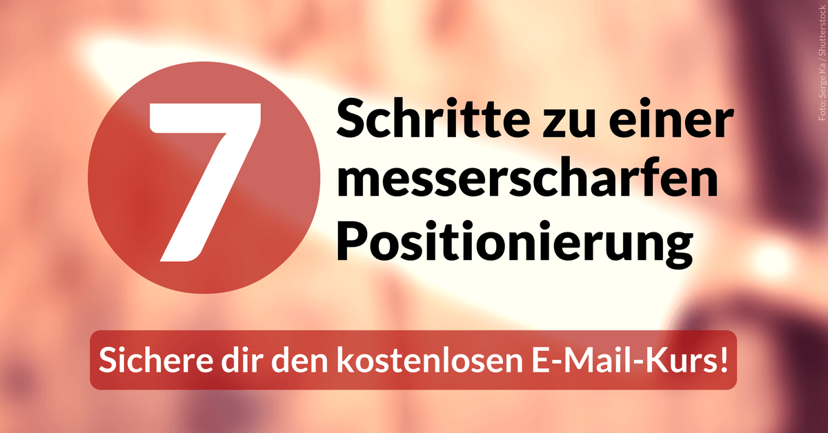 Positionierung E-Mail-Kurs – Julian Heck