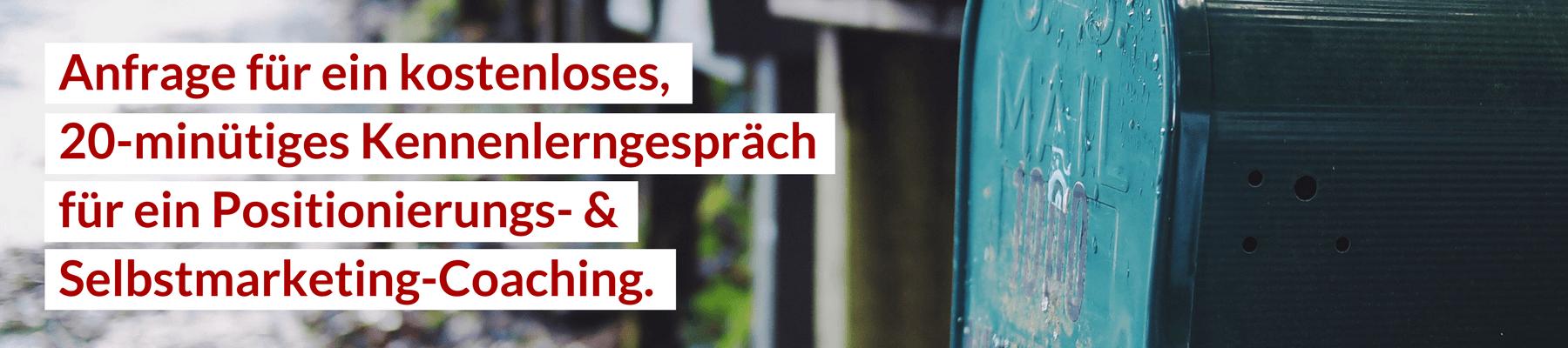 Selbstmarketing Positionierung Coaching Julian Heck Kennenlerngespräch