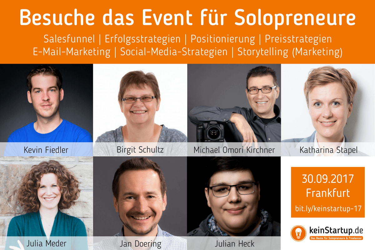 keinStartup-Event 2017 | Solopreneur Event